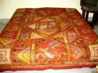 HANDMADE ETHNIC EMBROIDERED PATCH WORK BEDSPREADS