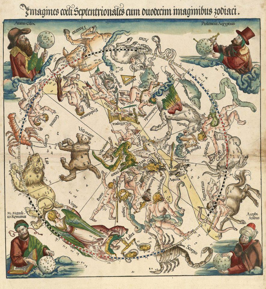 Dürer, Imagines coeli Septentrionalis cum duodecim imaginibus zodiaci (1515)