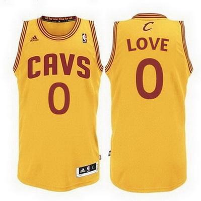 maglia basket kevin love 0 cleveland cavaliers rev30 giallo