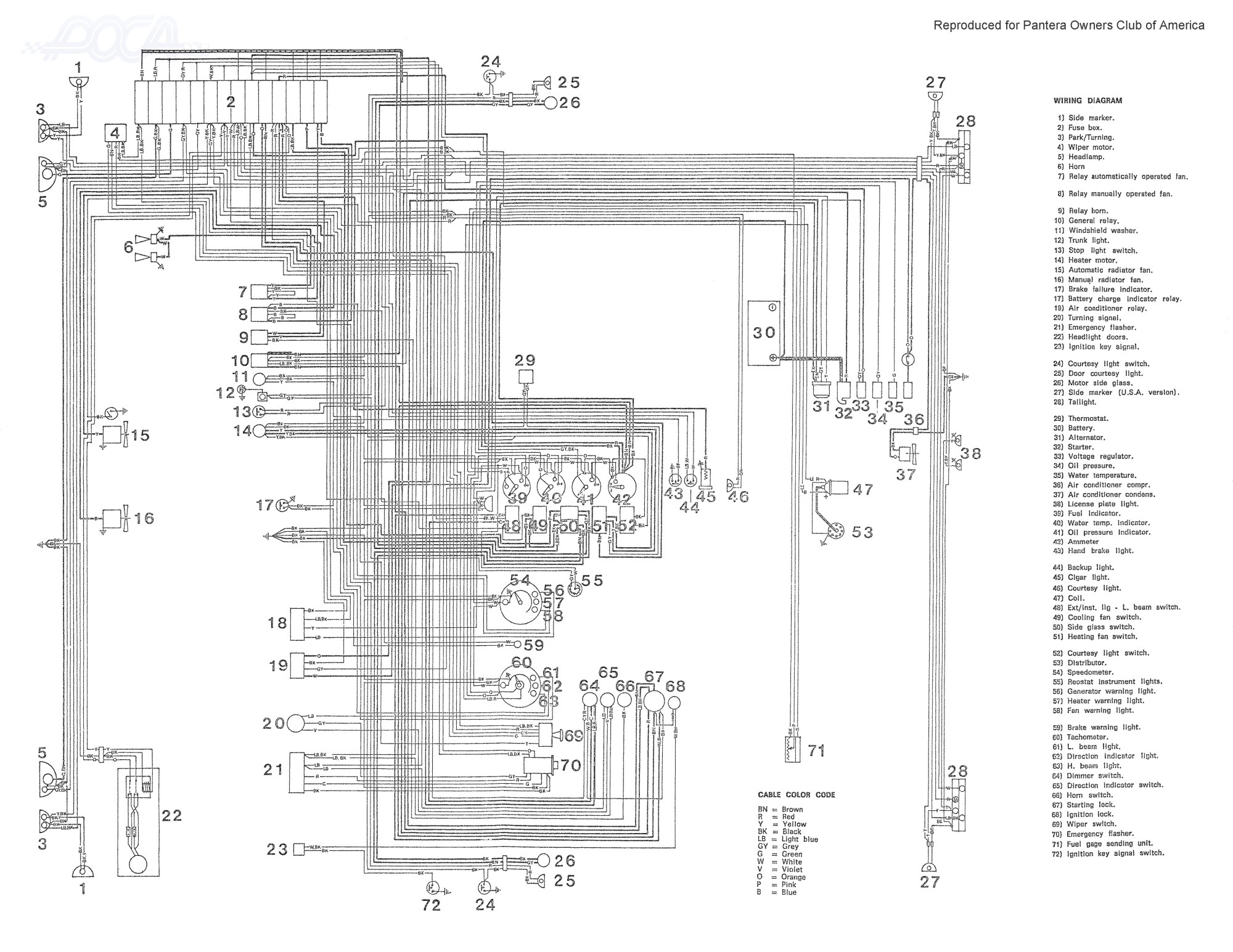 hight resolution of pantera early l model electrical diagrams