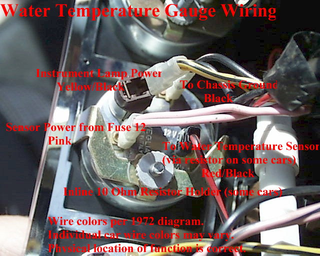 Wiring Diagram Temperature Gauge
