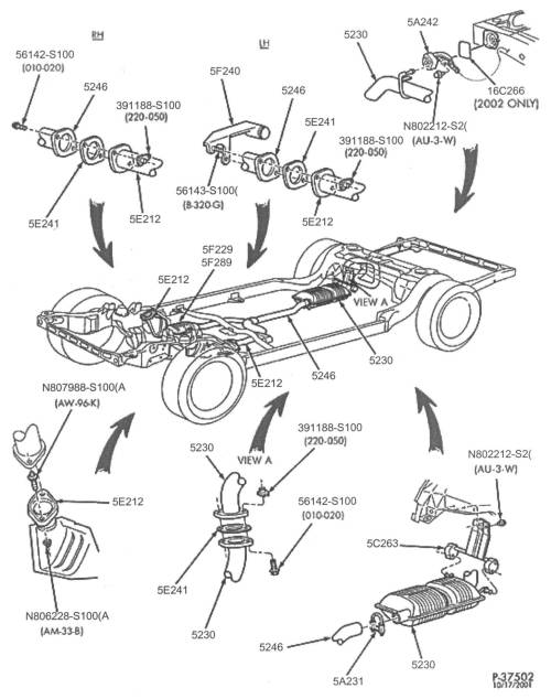 small resolution of below are some parts diagrams for original equipment ford exhaust system service parts that can be purchased at your local ford dealer