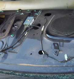 above a a few pictures of wrecked crown victoria police cruiser rear parcel shelves the blue cruiser is a 00 the white a 99 and the silver an 01  [ 1700 x 669 Pixel ]