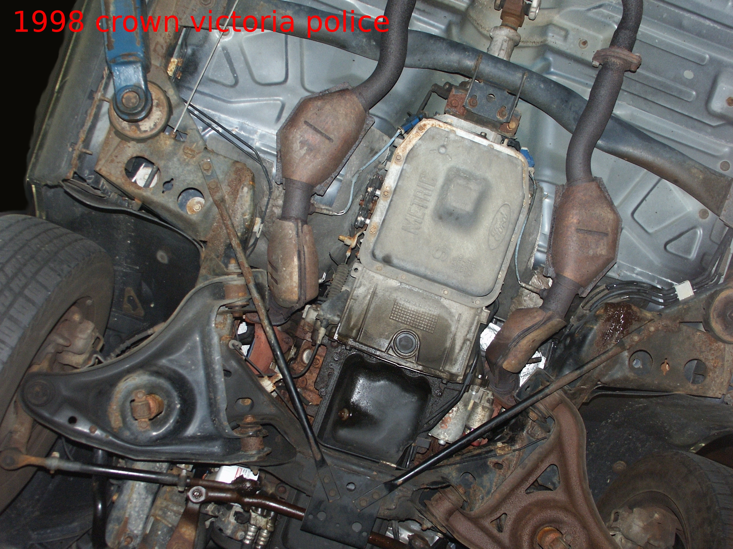 Honda Fuel Filter Installed Ford Crown Victoria Undercar Picture Scrapbook