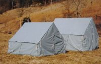 Canvas used boy scout tent