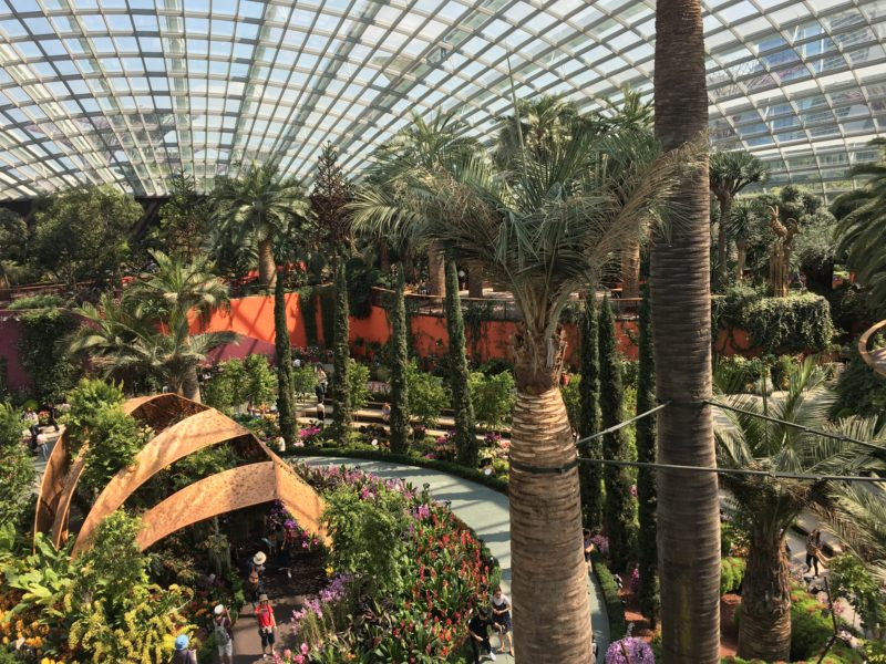 flower dome, escapade, singapour, garden by the bay