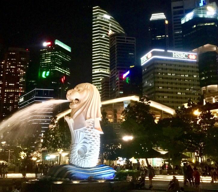 merlion, singapour