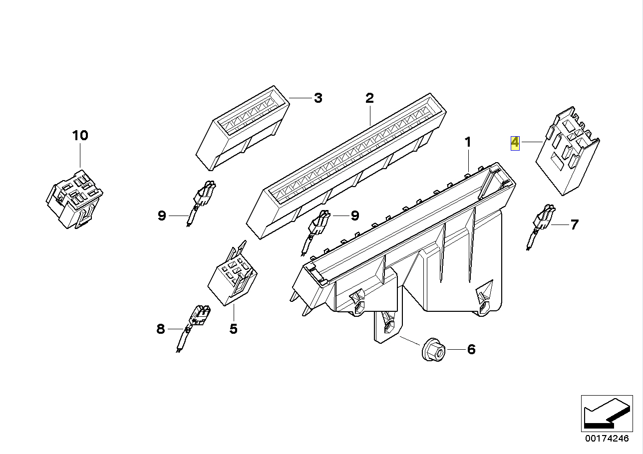 BMW Maxi Fuse Holder Socket Mount Bracket 8367144 61138367144