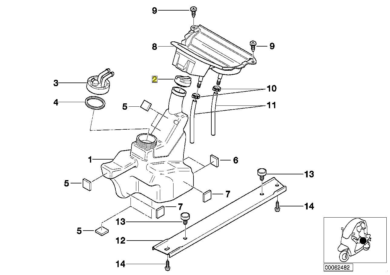 BMW Motorrad C1 Fuel Petrol Tank Filler Cap 2329224