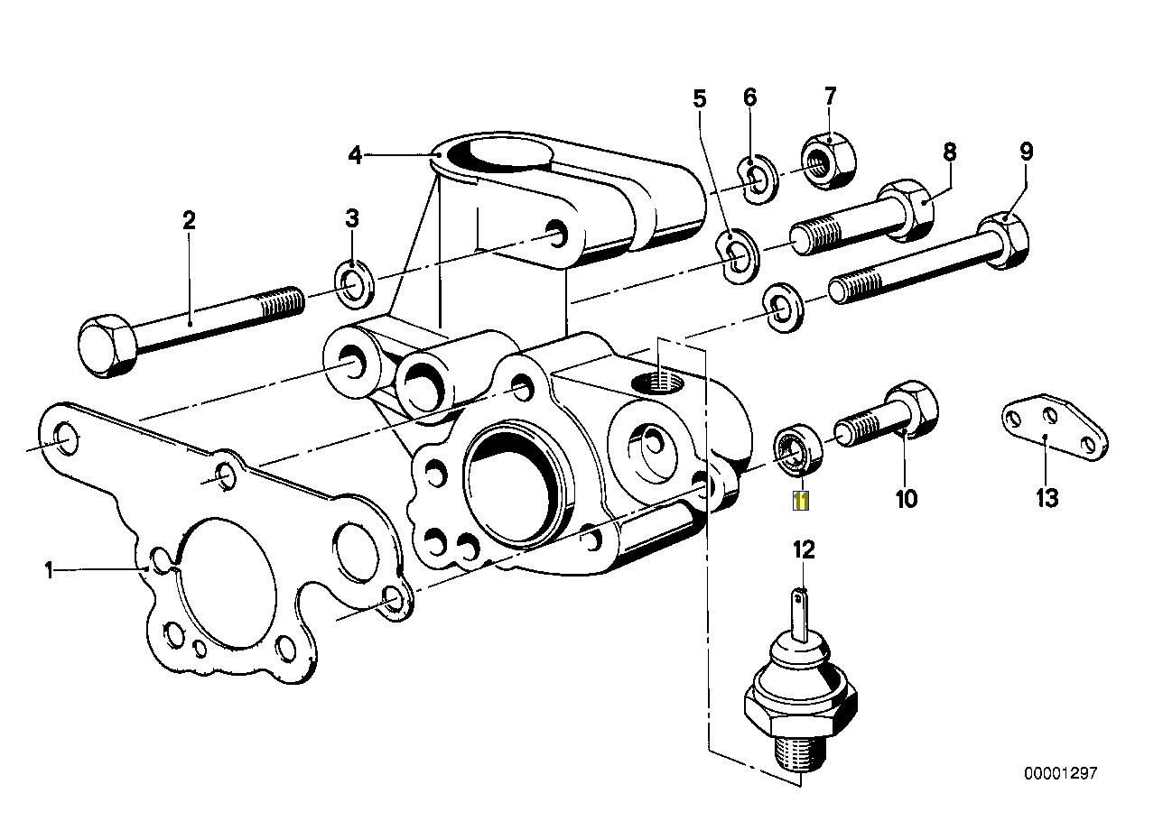 BMW M10 M30 Engine Distributor Bolt Seal Ring 0002735