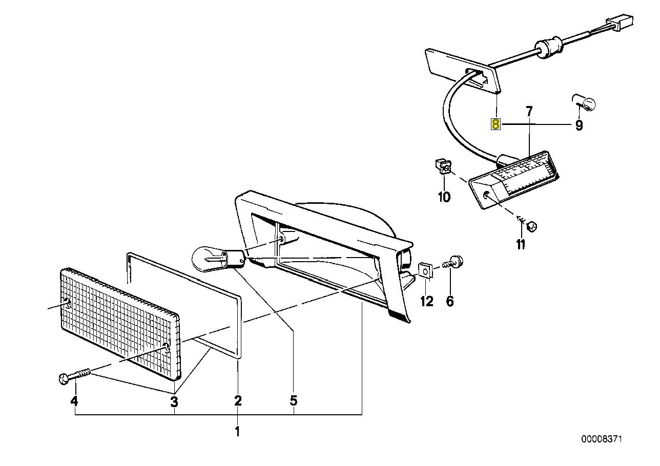 BMW E30 E34 E32 E36 Right Indicator Seal Gasket 1378014