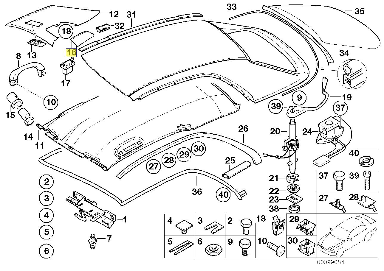 BMW E46 Hardtop Left Interior Trim Cover Flap 8228933