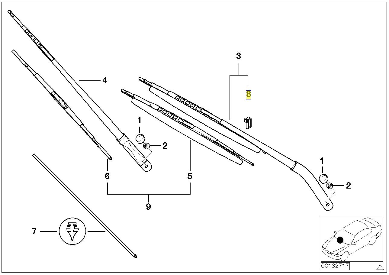 BMW E53 Wiper Arm Blade Guide Clip Holder 7030264