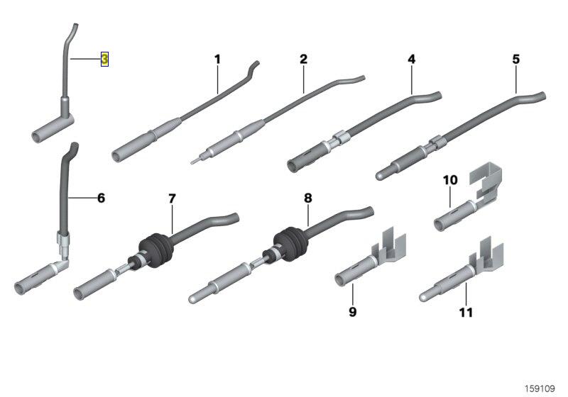 BMW Wiring Connector Plug Repair Terminal Pin 0007445