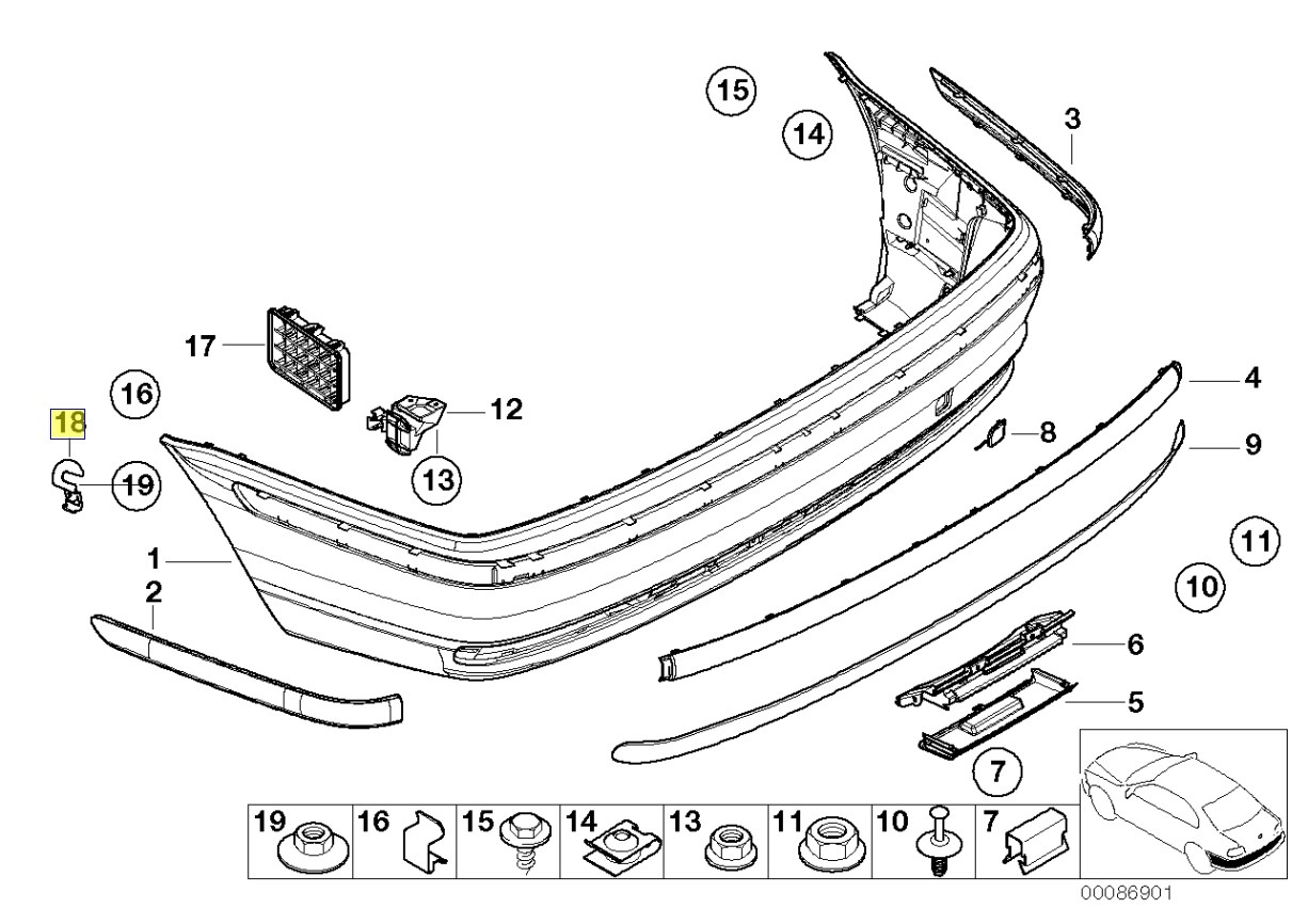 Bmw Front Bumper Clips