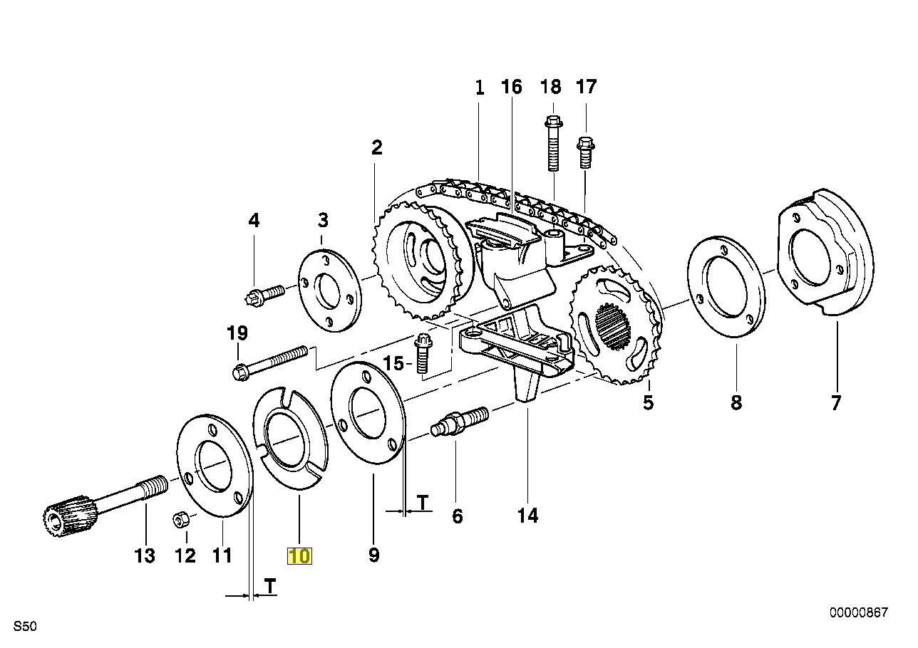 Bmw M50 M52 Engine Vanos Gear Disc Spring Washer