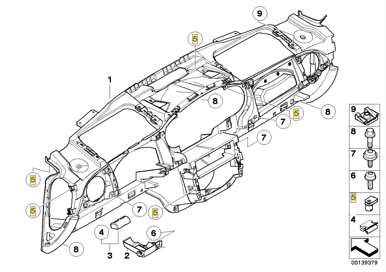 BMW MINI R50 R52 R53 Dashboard Trim Clip Nut 1472727