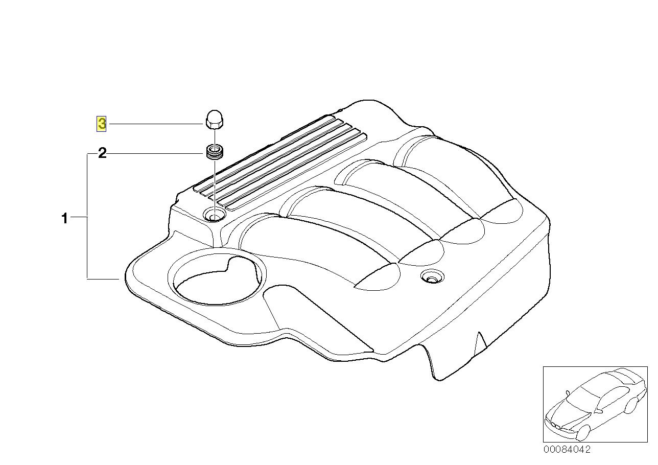 BMW N40 N42 N45 N46 Moteur Isolation Boitier Ecrou 1725686