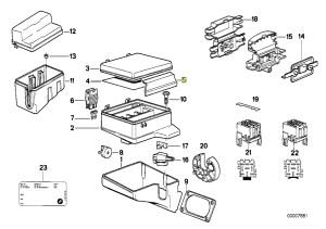 BMW E34 E32 Fuse Box Cover Lid Clamp Clip Lock 1379502