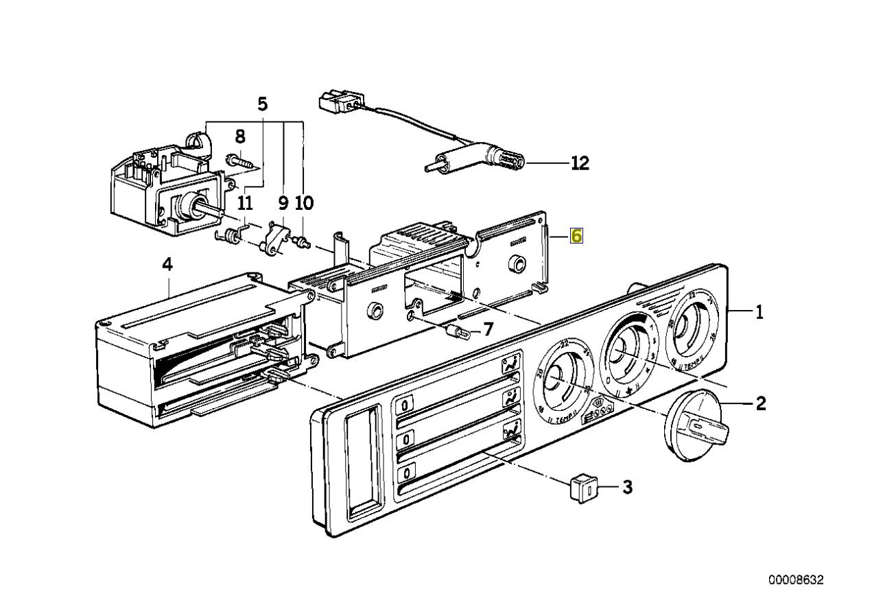 Bmw E34 Heater Control Ecu Pcb Circuit Board