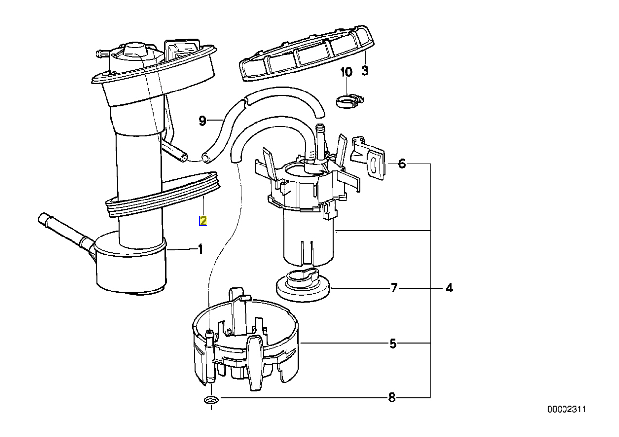 Bmw E34 E31 E36 Z3 Z1 Benzinpumpe Sensor Dichtung