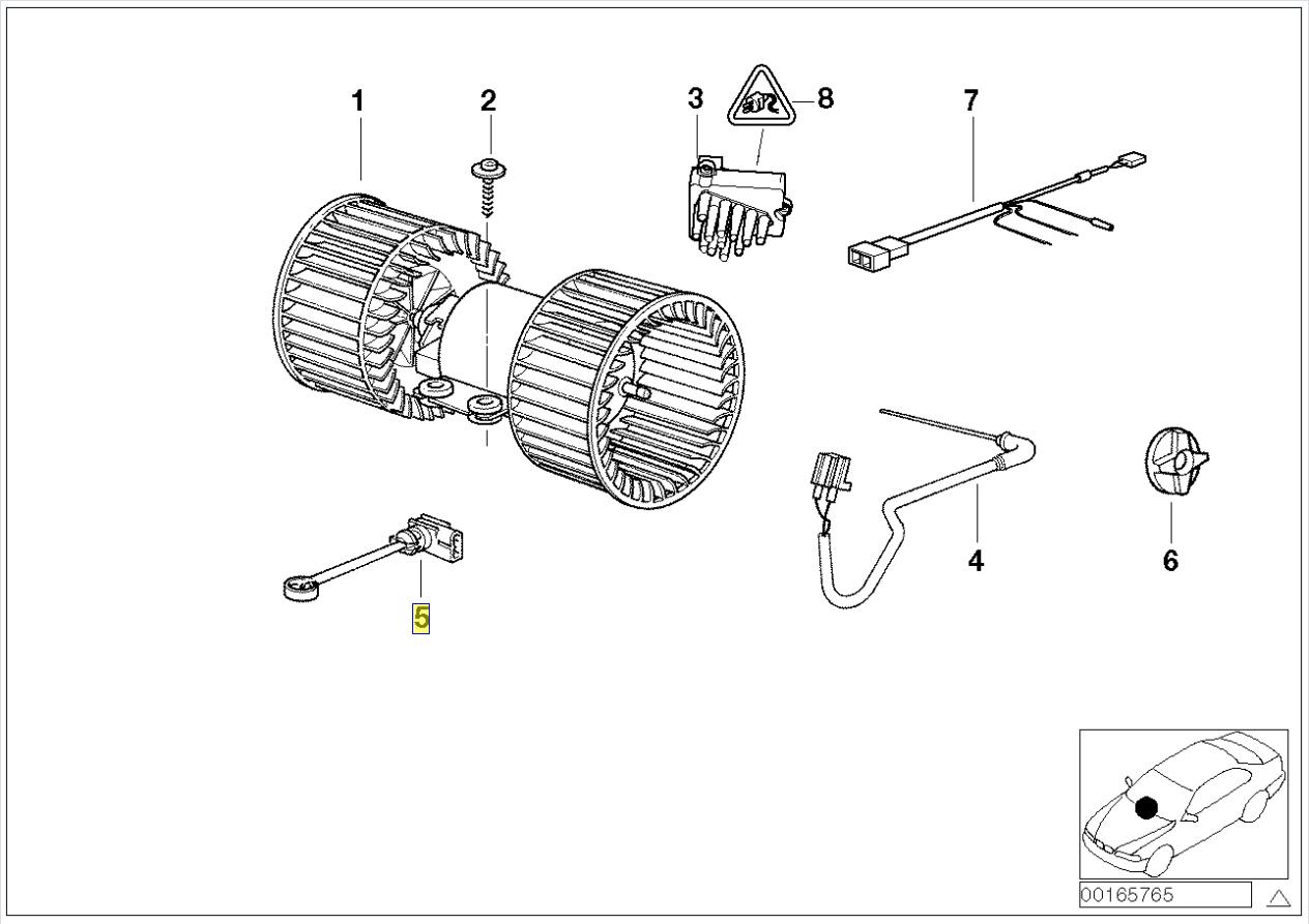 Bmw E39 E38 E53 Heater Blower Air Temp Sensor