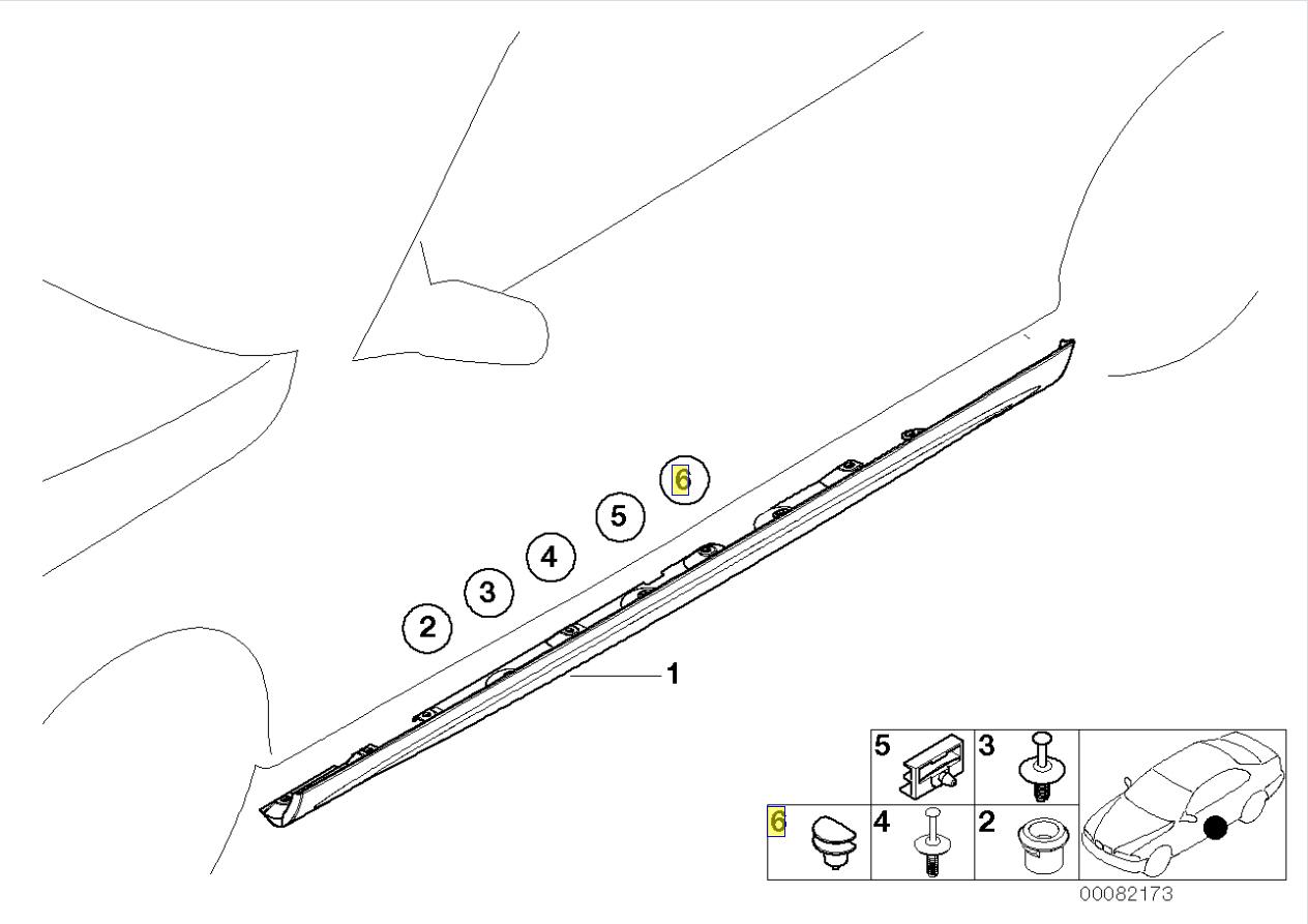 Bmw E30 E34 E46 M Tech Sill Cover Trim Clip
