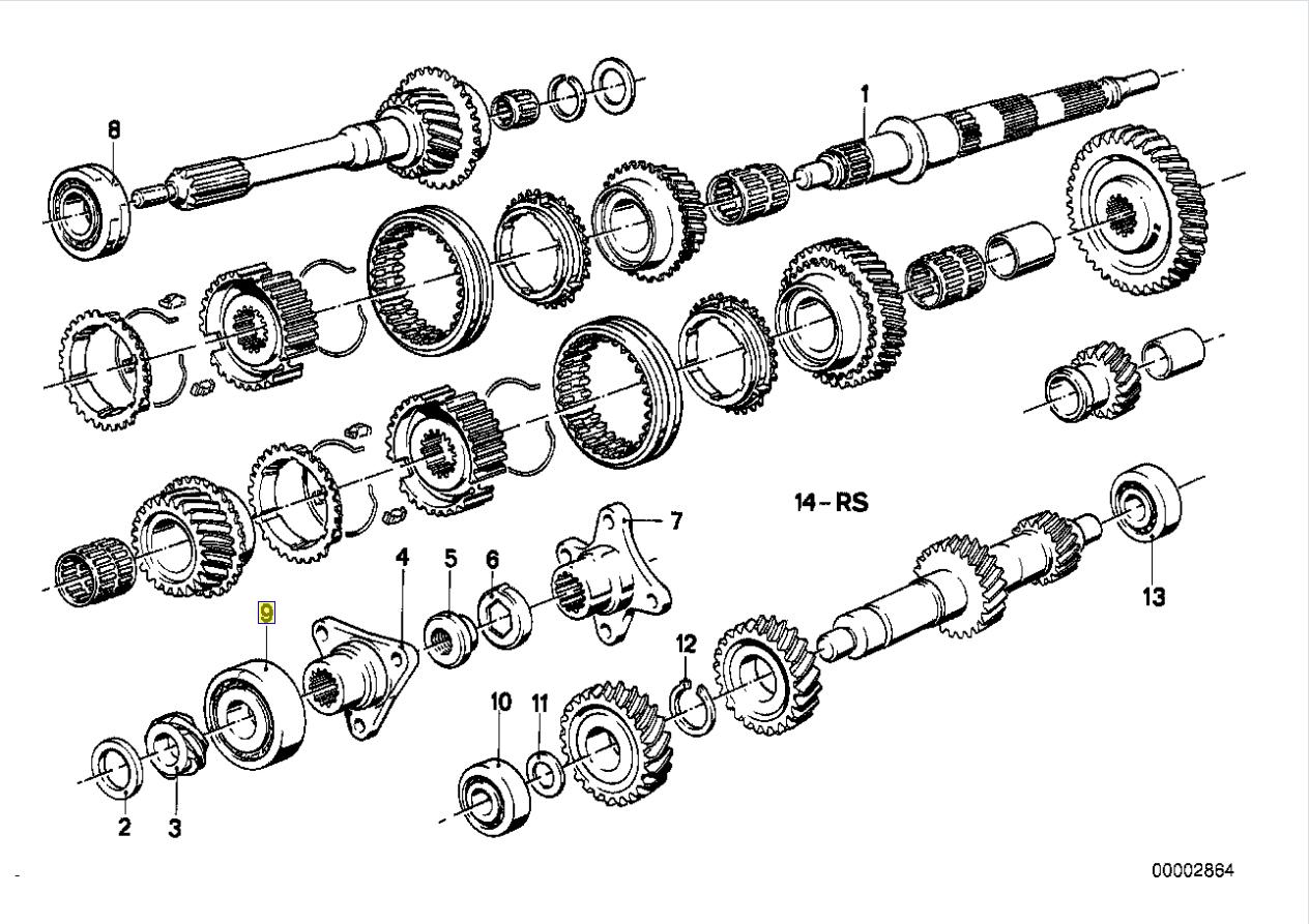 BMW Getrag Manual Gearbox Output Shaft Bearing 1205522