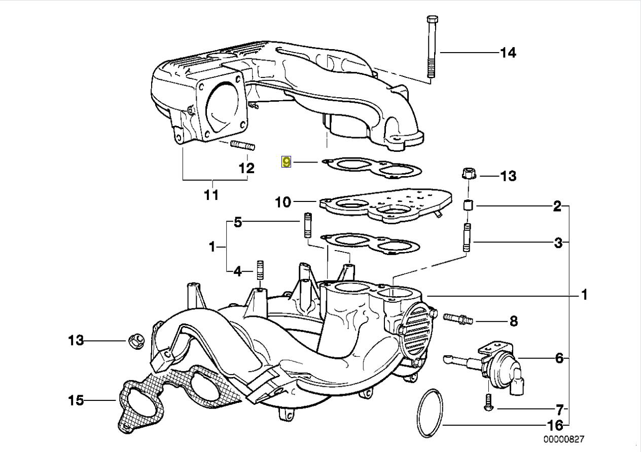Bmw M42 M43 Engine Intake Manifold Seal Gasket