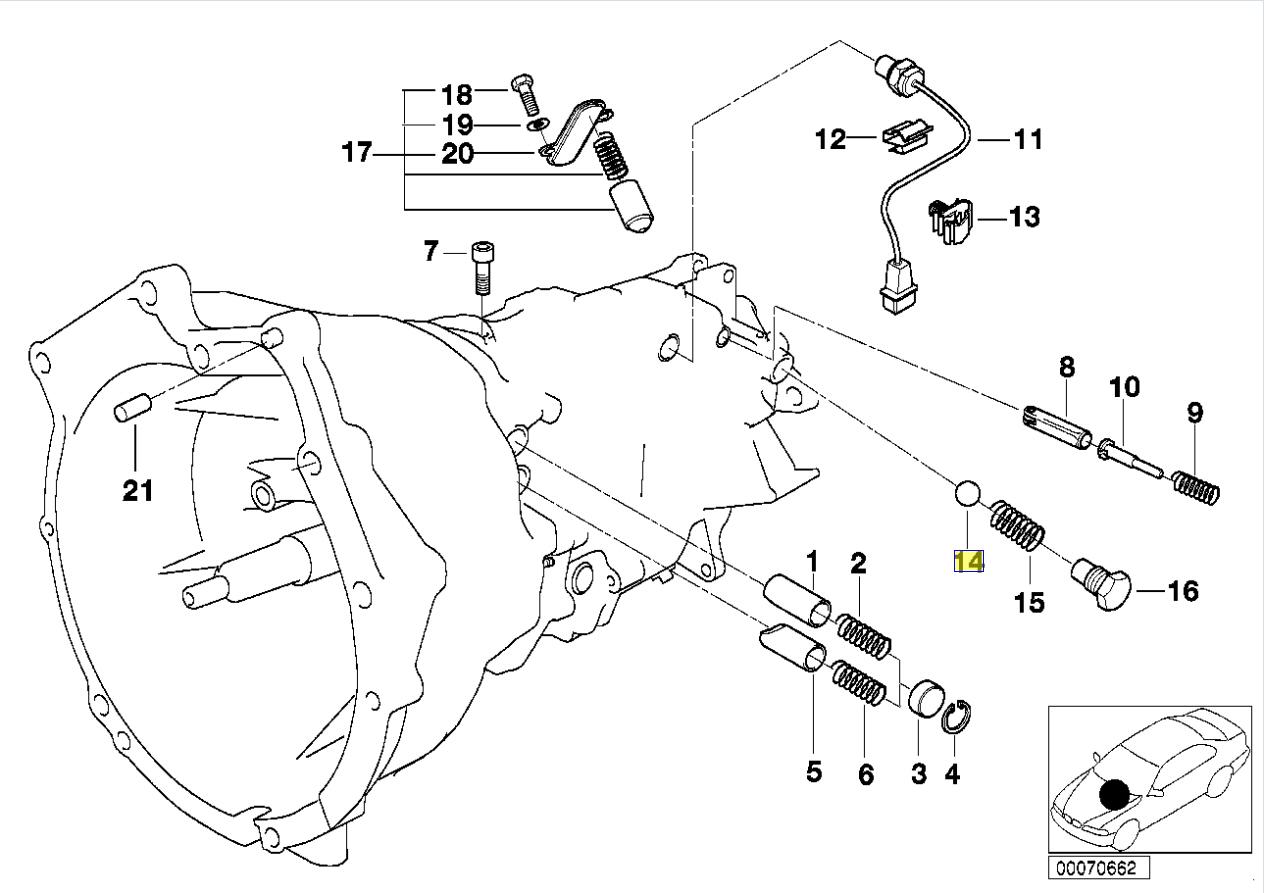 BMW Getrag Gearbox 8mm Gear Detent Ball Bearing 9986280