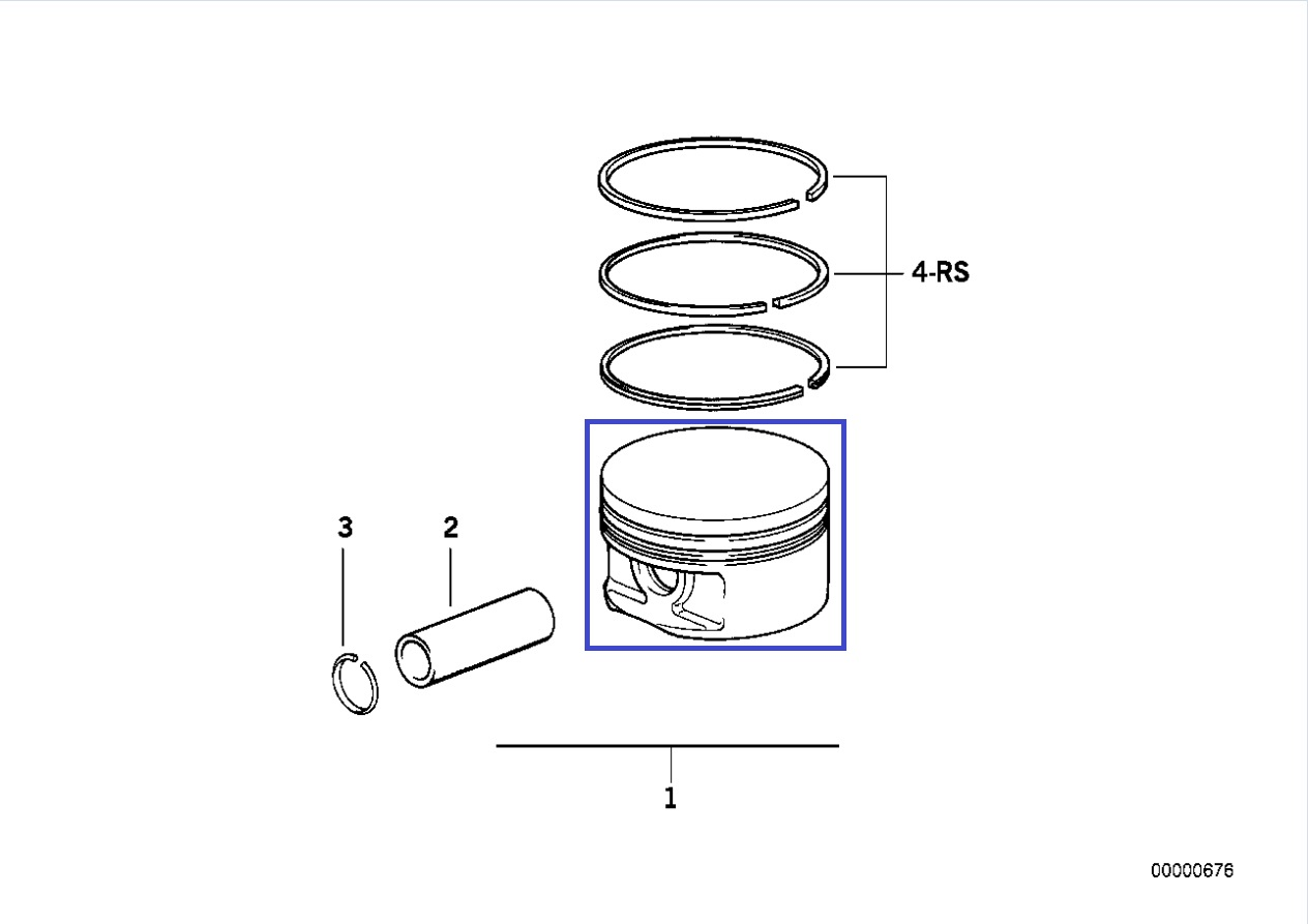 Bmw M60 B40 V8 Engine Mahle Nikasil Piston