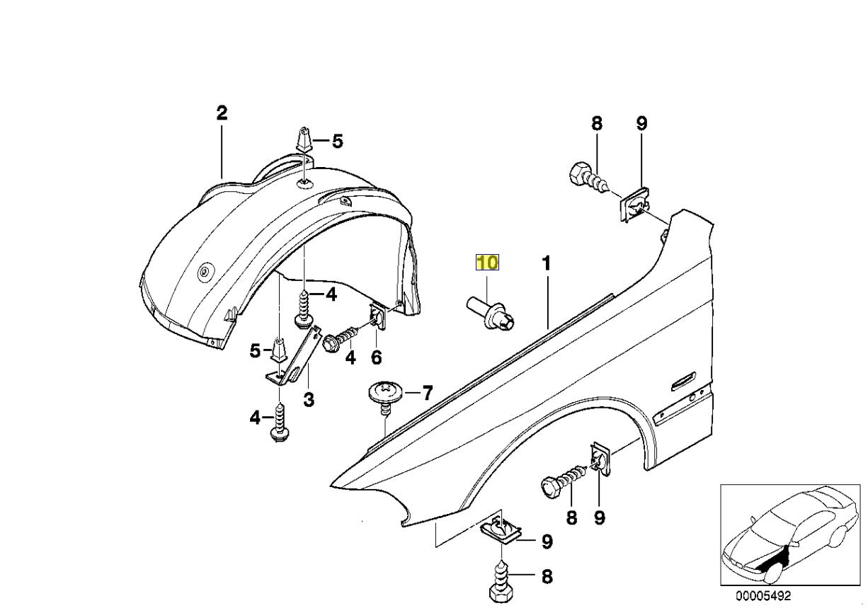 Bmw E36 E39 Body Trim Clip Expanding Rivet