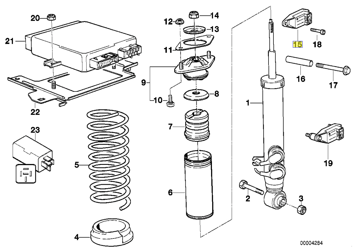 Bmw E31 E36 M3 Edc Damper Sensor Insulator
