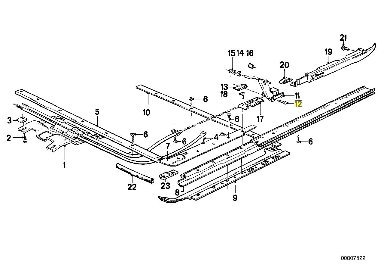 BMW E30 E28 E24 E23 Sunroof Drive Cable Pin 1902725