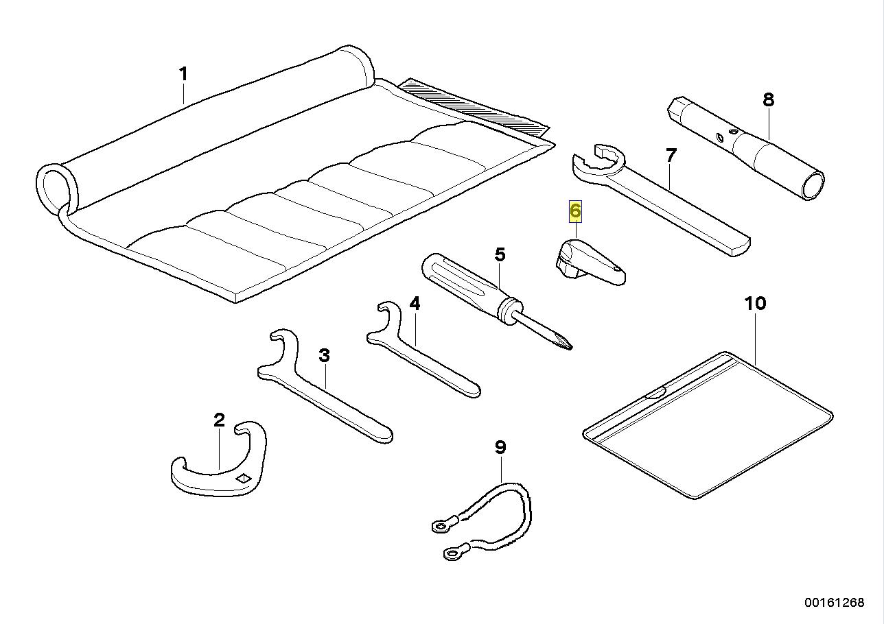 BMW Motorrad Oil Filler Cap Removal Key Tool 7691446