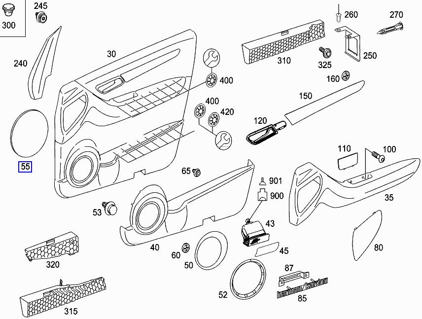 Mercedes W169 W204 W245 Door Speaker Seal Pad Gasket