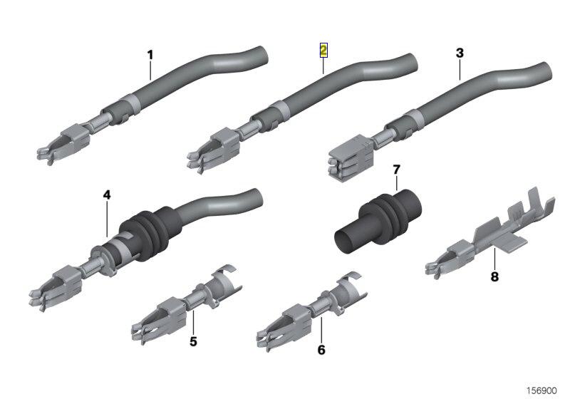 BMW Wiring Connector Plug Terminal Contact Pin 0007439