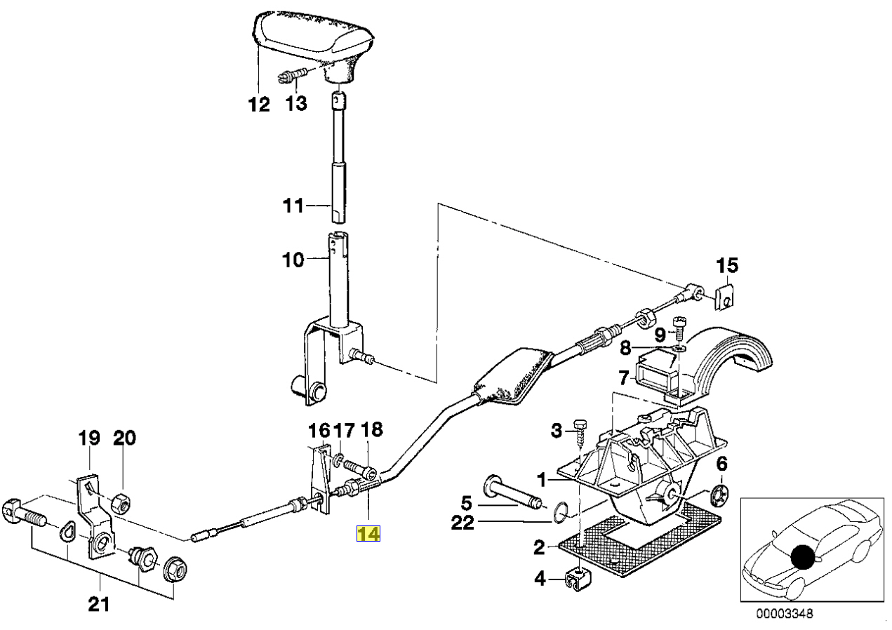 Bmw Series 5 E34 Auto Gearbox Selector Cable