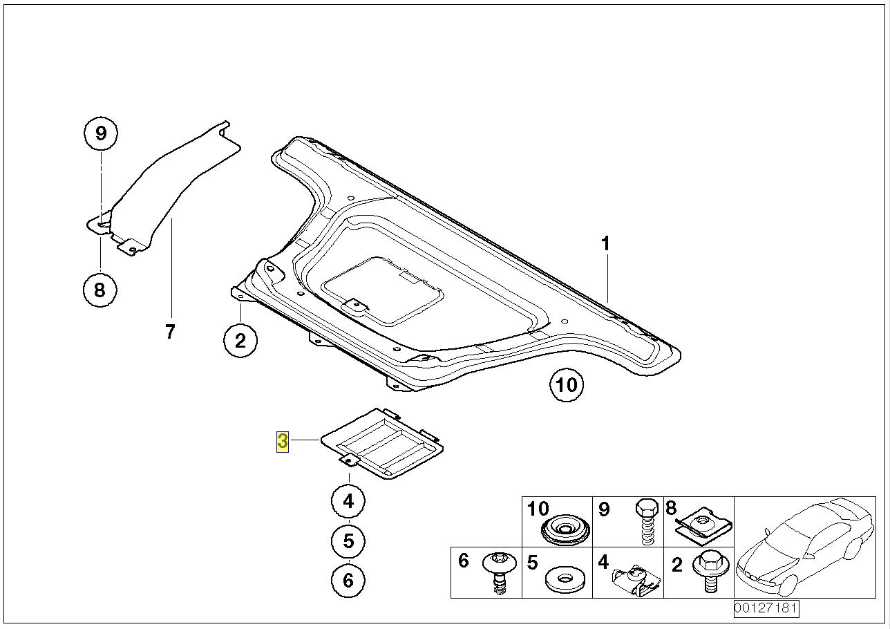 BMW E46 Oil Sump Drain Plug Access Cover Flap 8197932