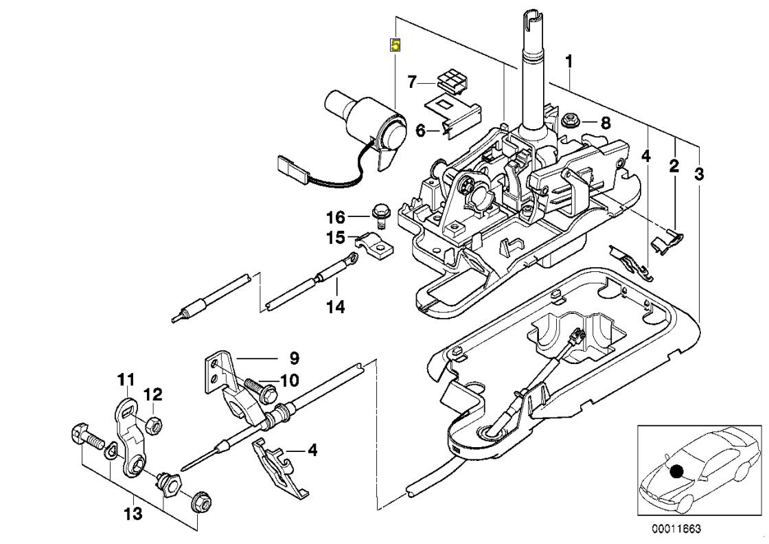 Bmw E31 E46 E39 E38 Gear Shift Lockout Solenoid