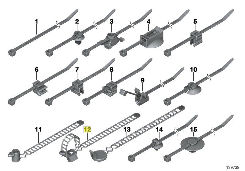 wiring harness clip holder