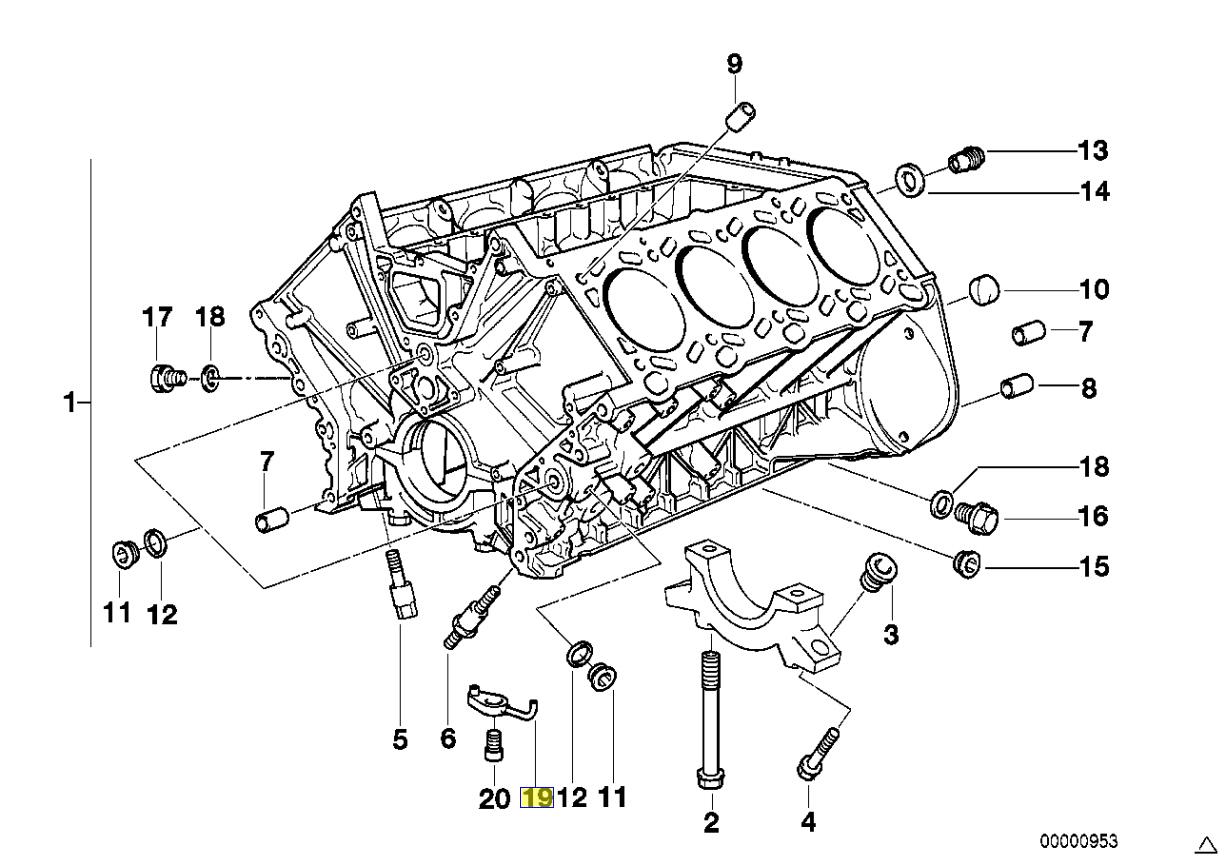 Bmw M62 V8 Engine Piston Oil Jet Sprayer Nozzle