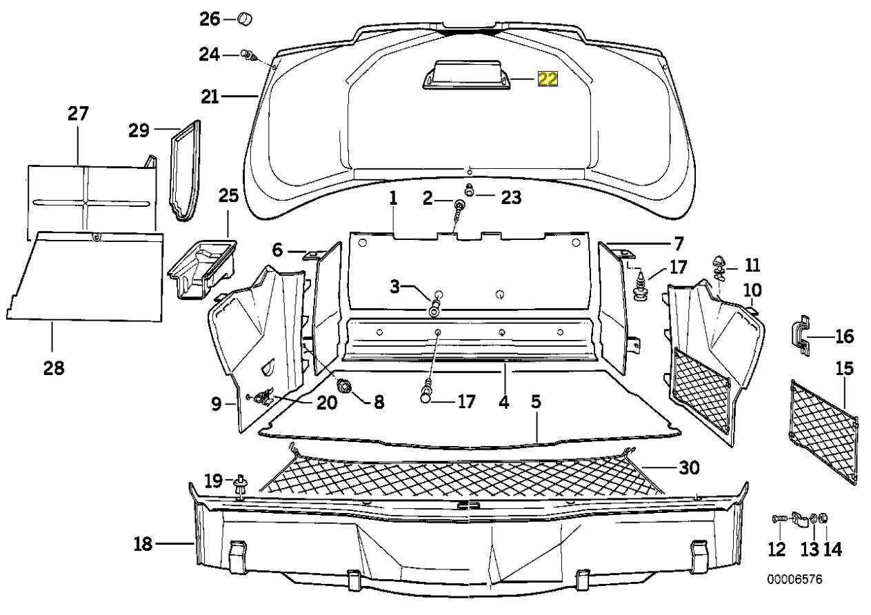 Bmw E31 E32 E34 Boot Trunk Close Handle Grip