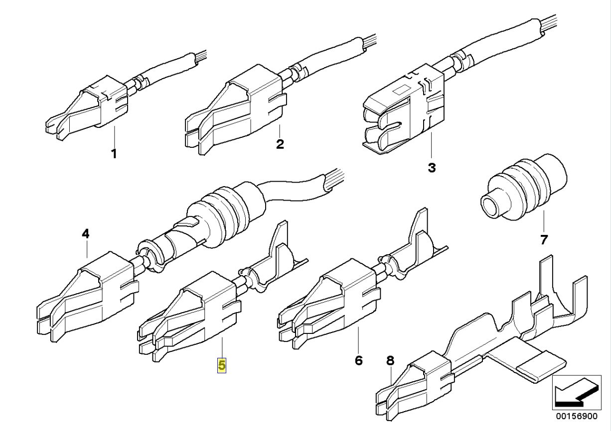 bmw e36 s50 wiring diagram 2001 nissan frontier engine fuse holder terminal contact pin 1370692