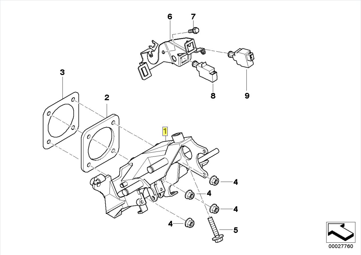Bmw E39 Brake Clutch Pedal Pivot Bracket Mount