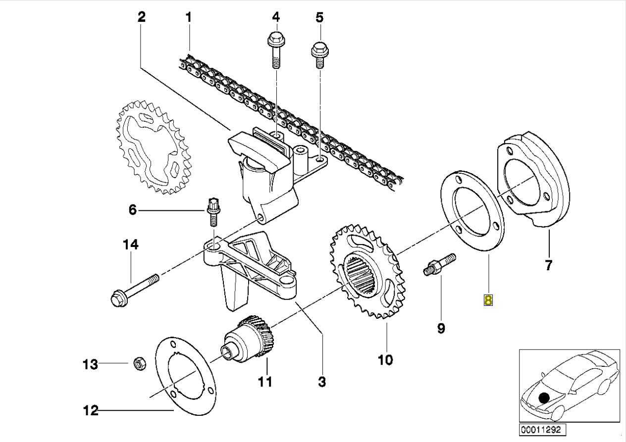 BMW M50 M52 M54 Engine VANOS Shim Spacer Washer 1735908