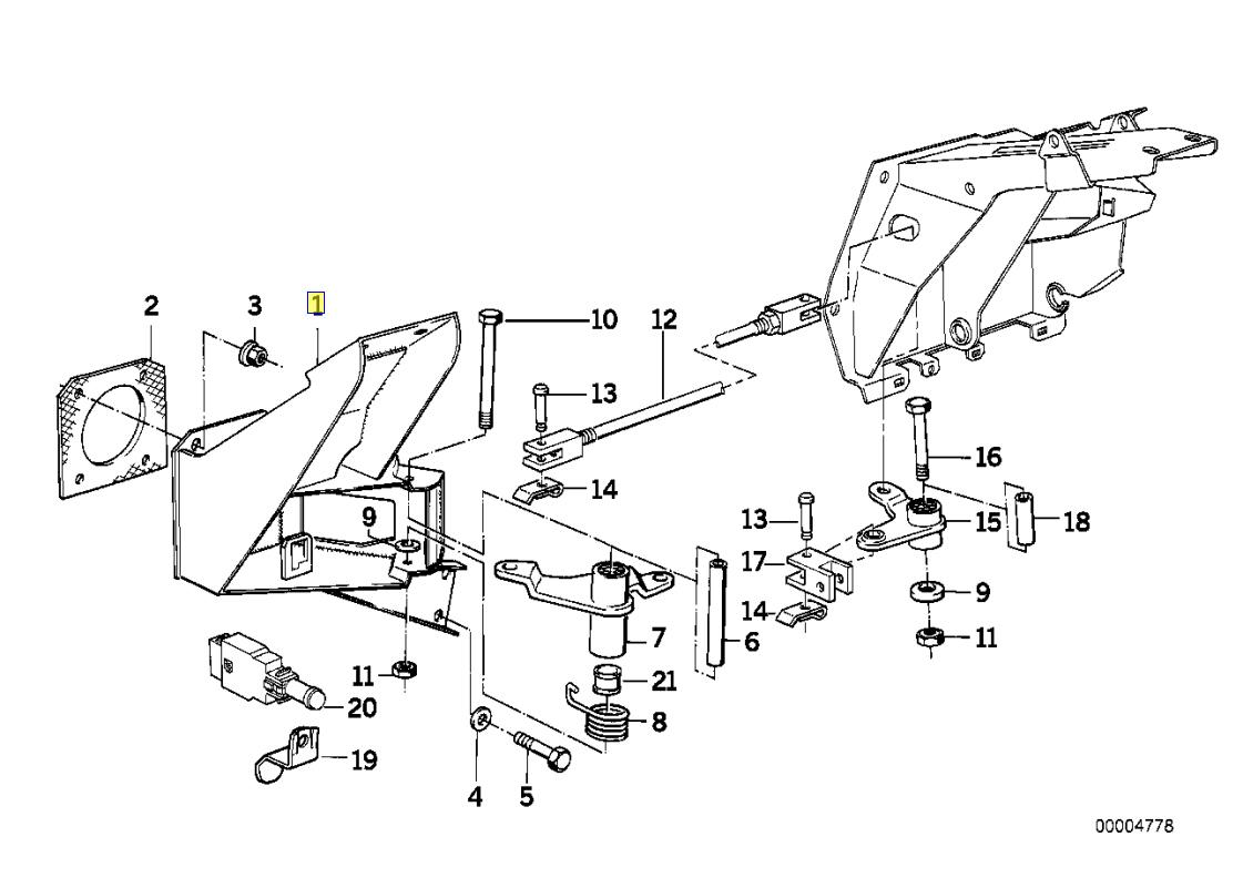 Bmw E34 E32 E31 Rhd Freno Pedale Collegamento Supporto