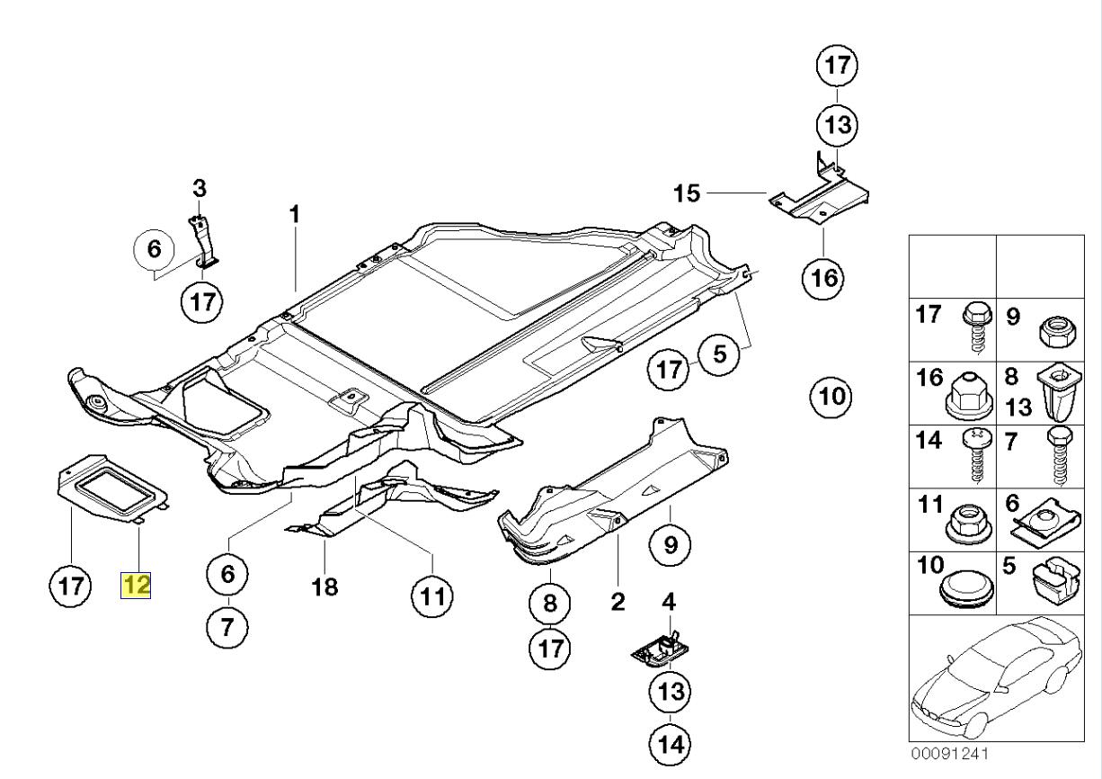 BMW E53 Z3 E36 Oil Sump Drain Plug Cover Flap 8268897
