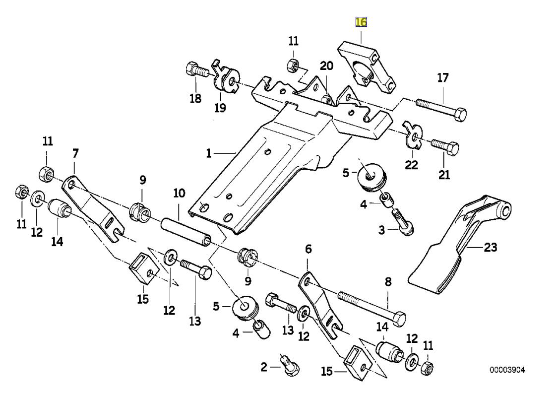 Bmw E34 E32 E31 Steering Column Clamp Bracket