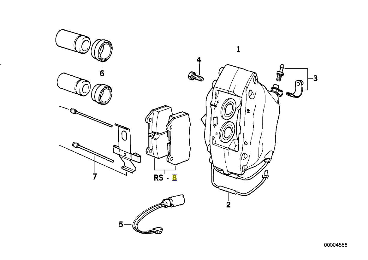 Bmw E31 Front Brake Pad Linings Set Jurid 187ff